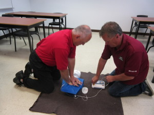 First Aid training at M.E.T.I.